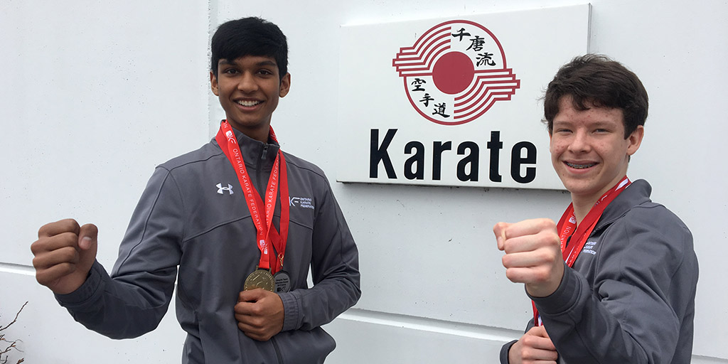 Gage Madill and Navin Kangal selected to Ontario Karate Team